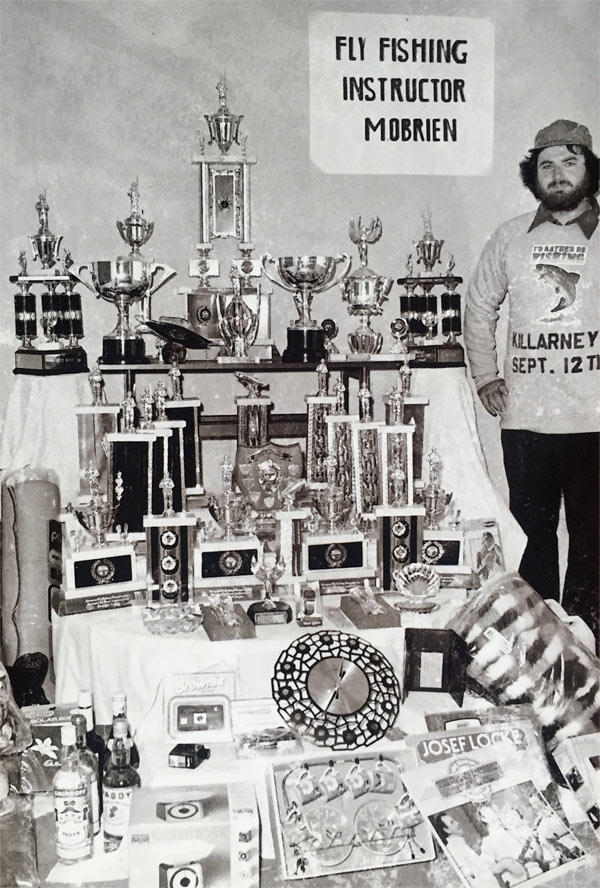 Mick O'Brien with his array of trophies