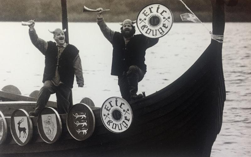 Launching the Killarney Viking boat with boatbuilder Dermot Mahony